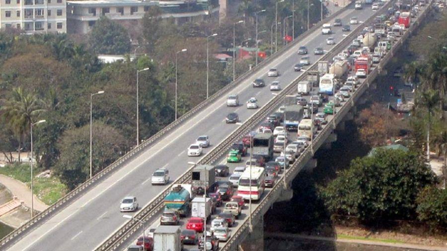 Cấm xe đường Vành Đai 3 trên cao đoạn Mai Dịch-Cầu Thăng Long