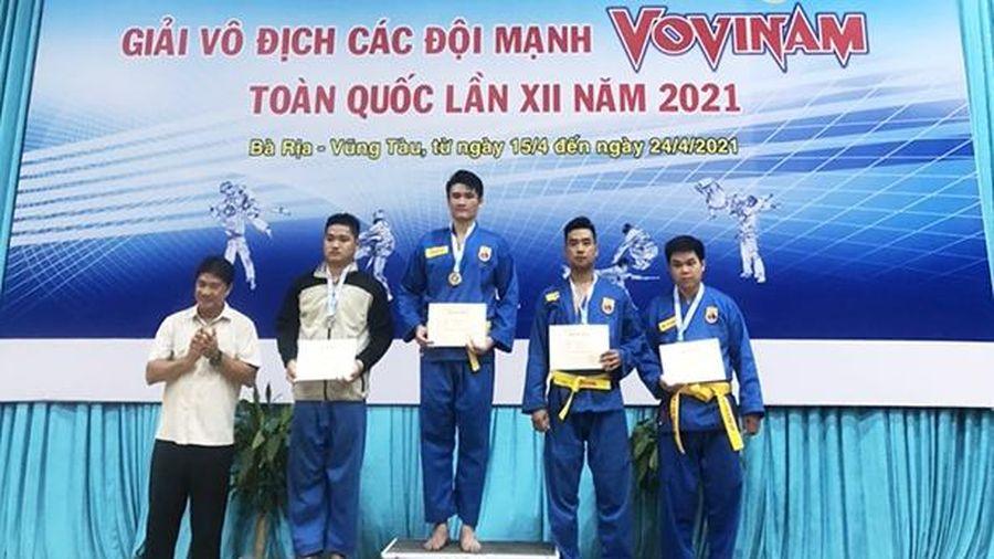 Hà Tĩnh giành 2 huy chương giải vô địch các đội mạnh Vovinam toàn quốc