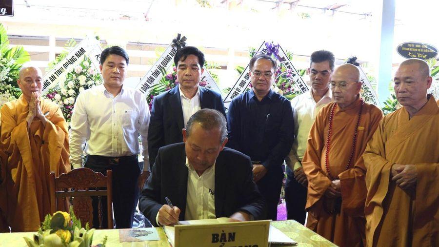Phó Thủ tướng Trương Hòa Bình dự tang lễ Hòa thượng Thích Thiện Duyên