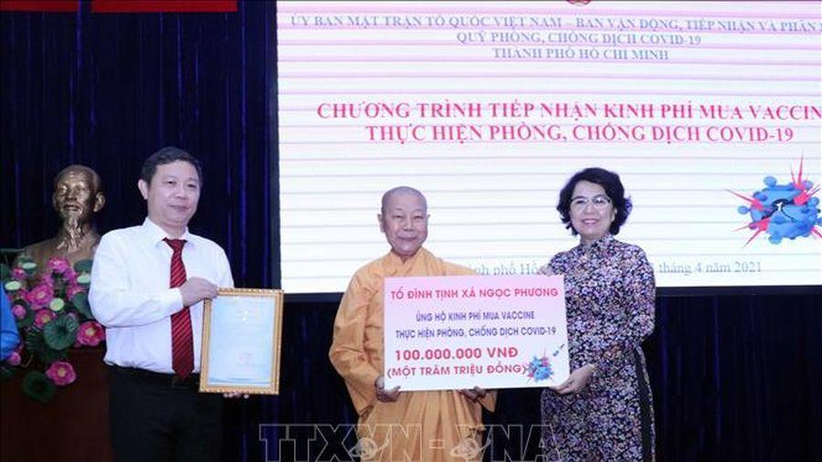 TP Hồ Chí Minh tiếp nhận hơn 200 tỷ đồng ủng hộ mua vaccine phòng dịch