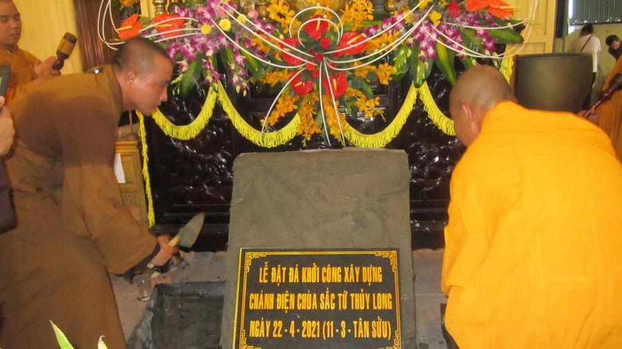 Quảng Ngãi: Lễ đặt đá xây dựng chánh điện chùa Sắc tứ Thủy Long