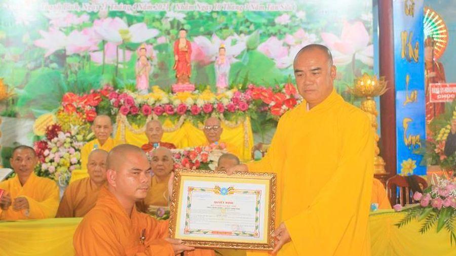 Đồng Tháp: Bổ nhiệm Đại đức Thích Phước Hạnh làm trụ trì chùa Thành Phước