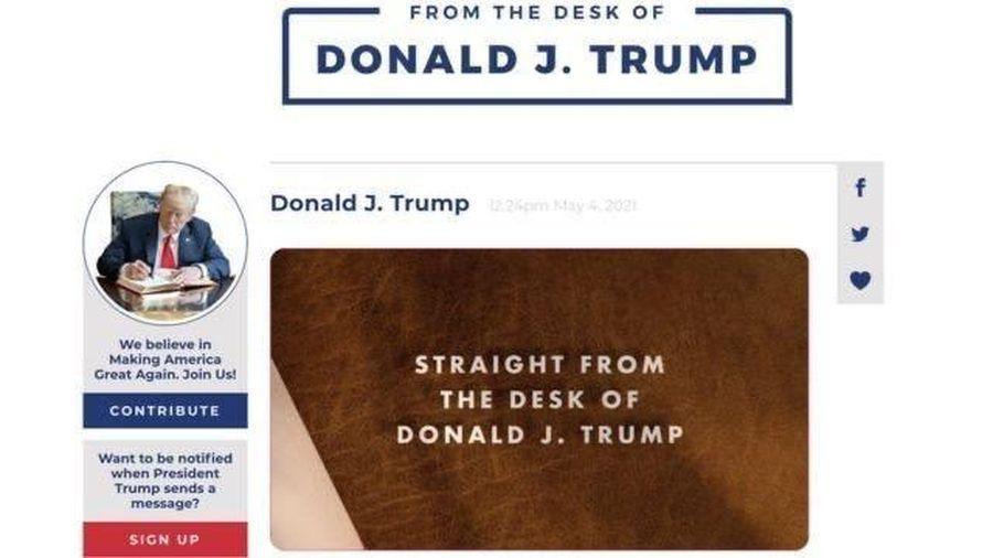 Ông Donald Trump trở lại nền tảng trực tuyến
