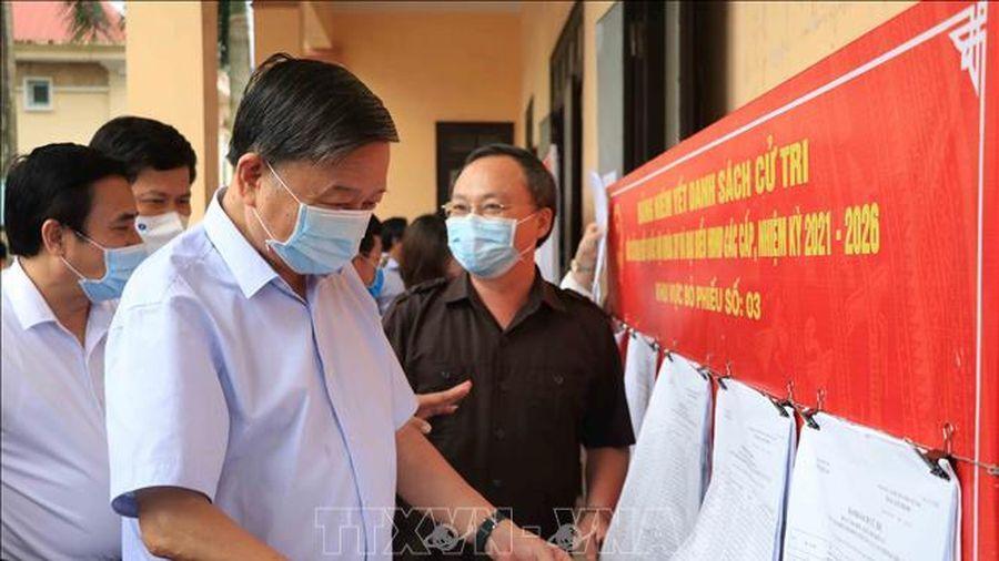 Bộ trưởng Tô Lâm tiếp xúc cử tri, vận động bầu cử tại Hưng Yên