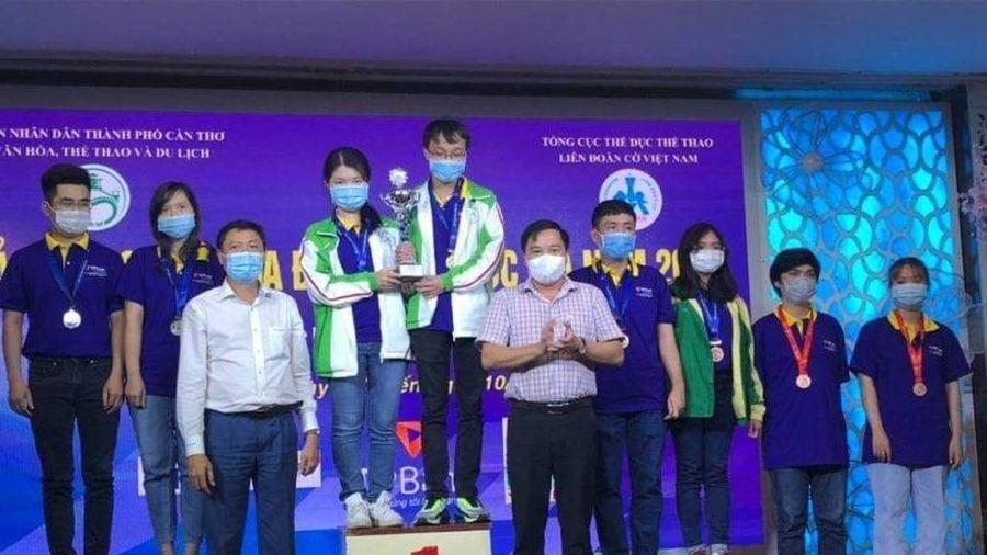 Hà Nội dẫn đầu, giành bốn HCV Giải Cờ vua đồng đội toàn quốc