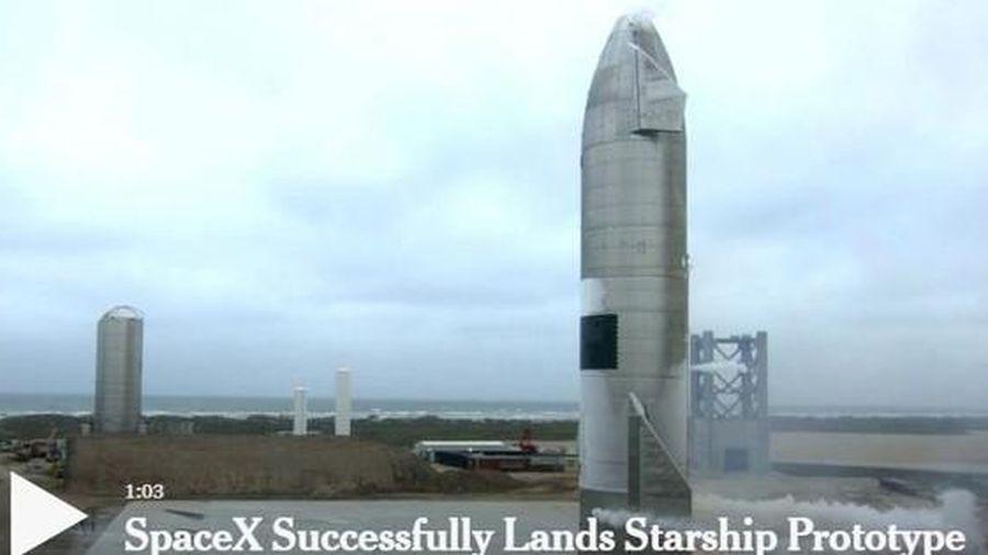 Tên lửa SpaceX hạ cánh thành công, không phát nổ như 4 lần trước