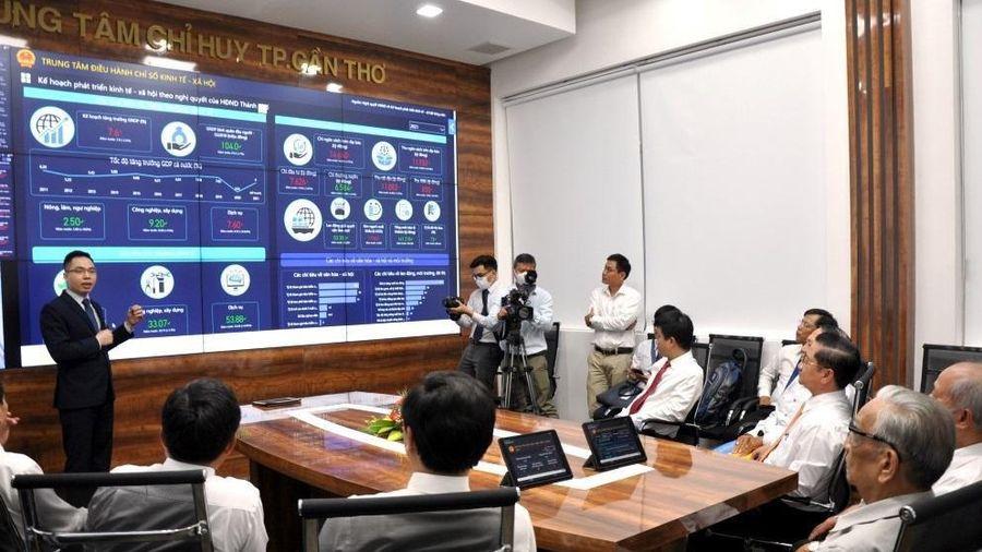 Trung tâm điều hành thông minh Cần Thơ thí điểm giám sát hiệu quả hoạt động của chính quyền