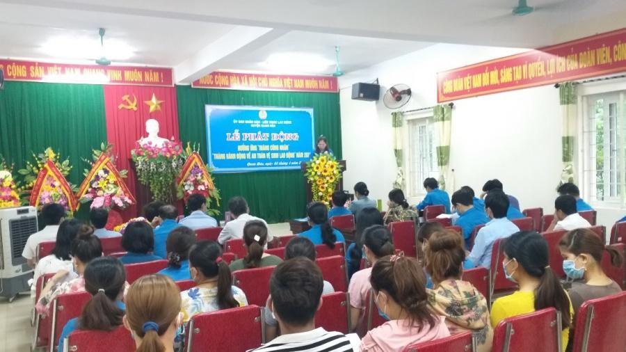 LĐLĐ huyện Quan Hóa phát động hưởng ứng 'Tháng công nhân' năm 2021