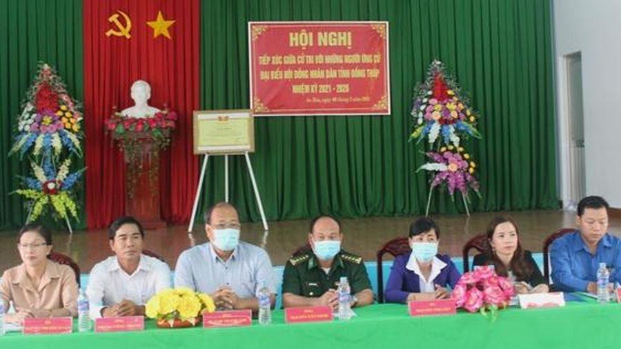 Ứng cử viên đại biểu Hội đồng nhân dân tỉnh tiếp xúc cử tri huyện Tam Nông
