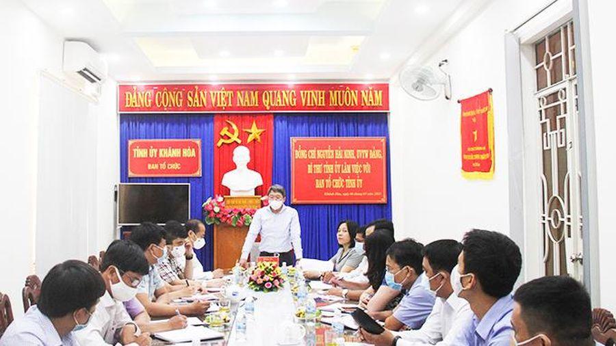 Bí thư Tỉnh ủy Nguyễn Hải Ninh làm việc với Ban Tổ chức Tỉnh ủy