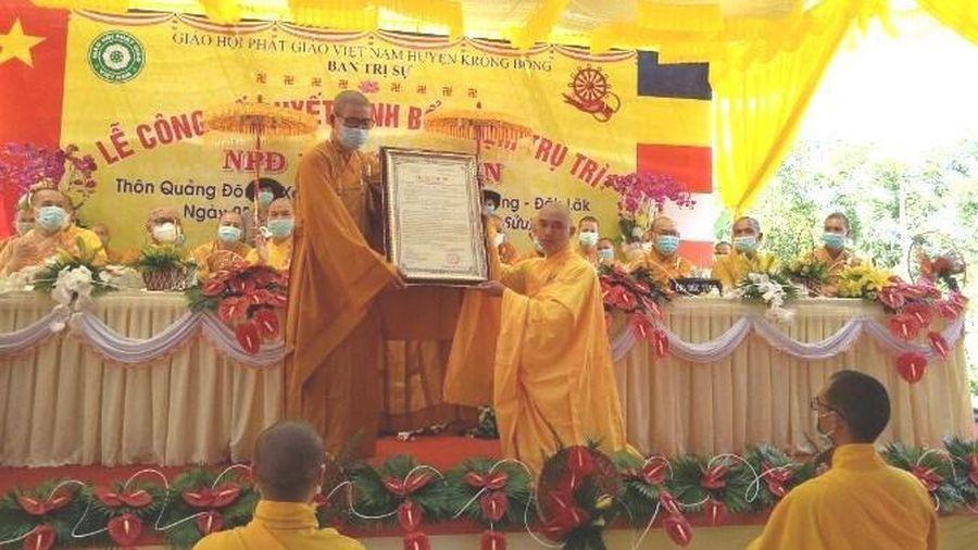 Đắk Lắk: Công bố quyết định bổ nhiệm trụ trì niệm Phật đường Phước Thiện