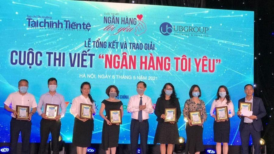 Trao giải cuộc thi viết 'Ngân hàng tôi yêu' dịp kỷ niệm 70 năm Ngân hàng Việt Nam