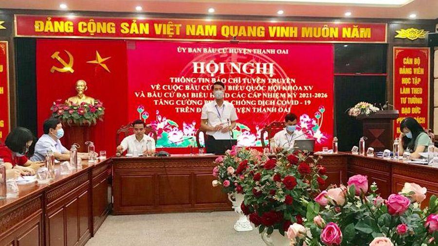 Huyện Thanh Oai: Khẩn trương, nghiêm túc thực hiện các phần việc phục vụ cuộc bầu cử