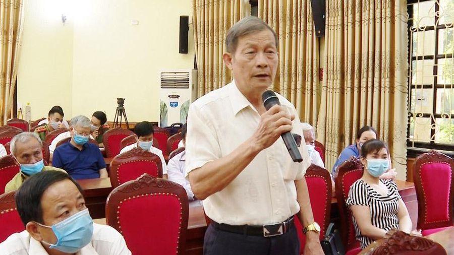 Người ứng cử đại biểu Quốc hội khóa XV tiếp xúc với cử tri huyện Ứng Hòa