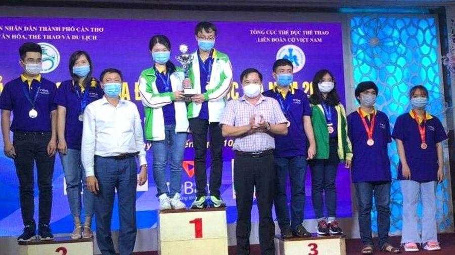 Hà Nội bảo vệ thành công ngôi đầu Giải cờ vua đồng đội toàn quốc 2021