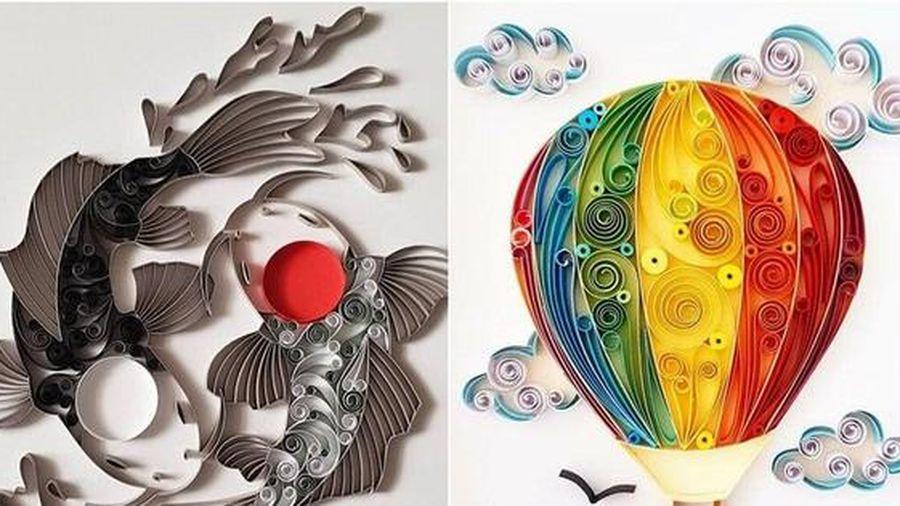 Ngắm những bức tranh giấy xoắn đẹp mê hồn dưới bàn tay nghệ sĩ Bulgaria
