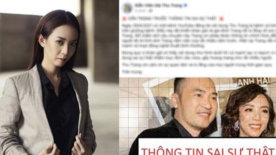 Thu Trang bức xúc lên tiếng vì trước tin đồn bị bệnh nặng đến mức Tiến Luật đau đớn thông báo