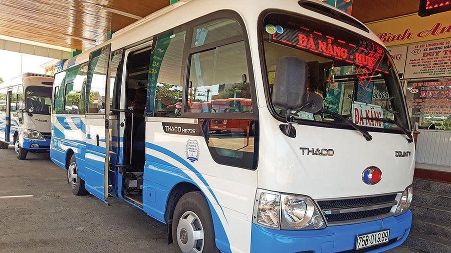 Đà Nẵng tạm dừng hoạt động vận tải khách ra Thừa Thiên Huế