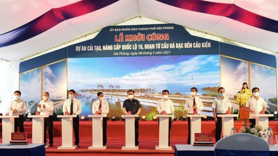 Hải Phòng: Khởi công Dự án cải tạo, nâng cấp Quốc lộ 10
