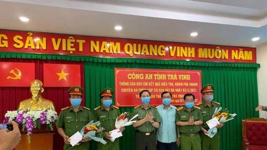 Trà Vinh: Thưởng nóng lực lượng phá án vụ trộm nhà nguyên Giám đốc Sở GTVT