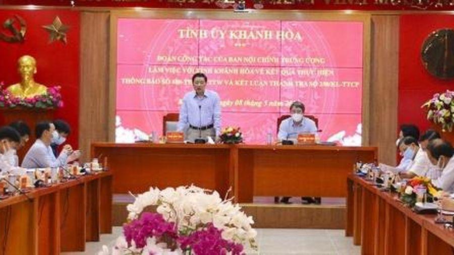 Yêu cầu đẩy nhanh điều tra, xử lý các vụ sai phạm ở Khánh Hòa
