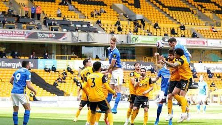 Kết quả Wolves 2-1 Brighton: 'Quái thú' Traore tỏa sáng giúp 'Bầy sói' có 3 điểm