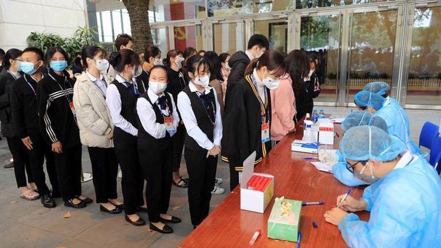 Toàn bộ học sinh Trường THPT Kinh Bắc được đề nghị xét nghiệm Covid-19