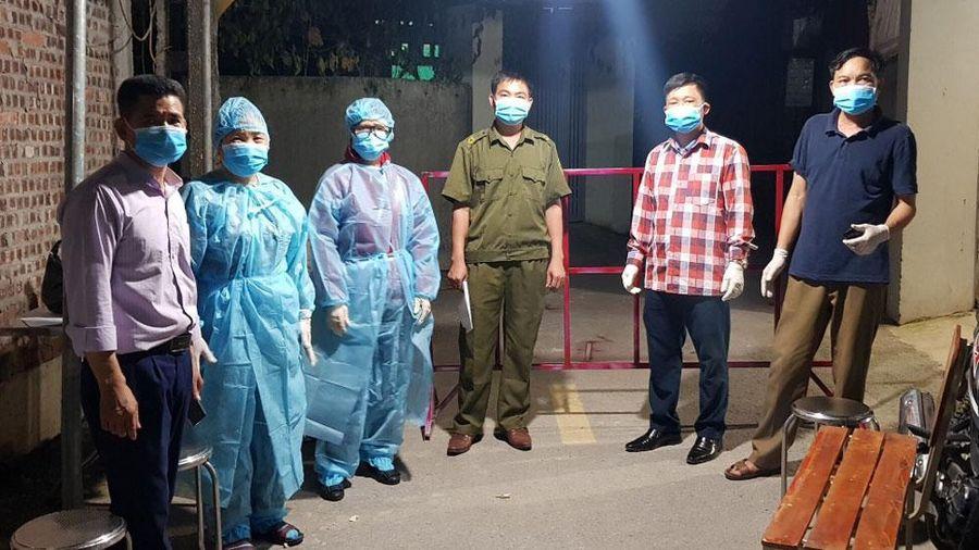 Việt Yên: Lập chốt kiểm soát dịch tại xã Hồng Thái