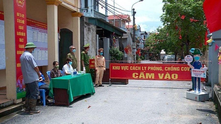 Cách ly xã hội thôn Đại Nội thuộc huyện Yên Lạc ở Vĩnh Phúc