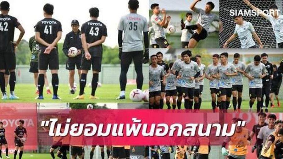 Tuyển Thái Lan vỡ trận vì COVID-19, HLV Nishino 'trổ tài' huấn luyện...online