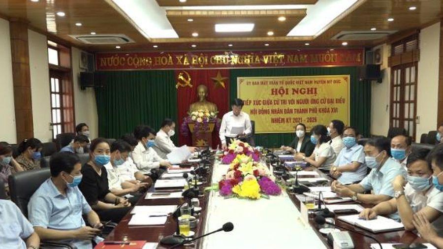 Người ứng cử đại biểu HĐND thành phố Hà Nội tiếp xúc cử tri huyện Mỹ Đức