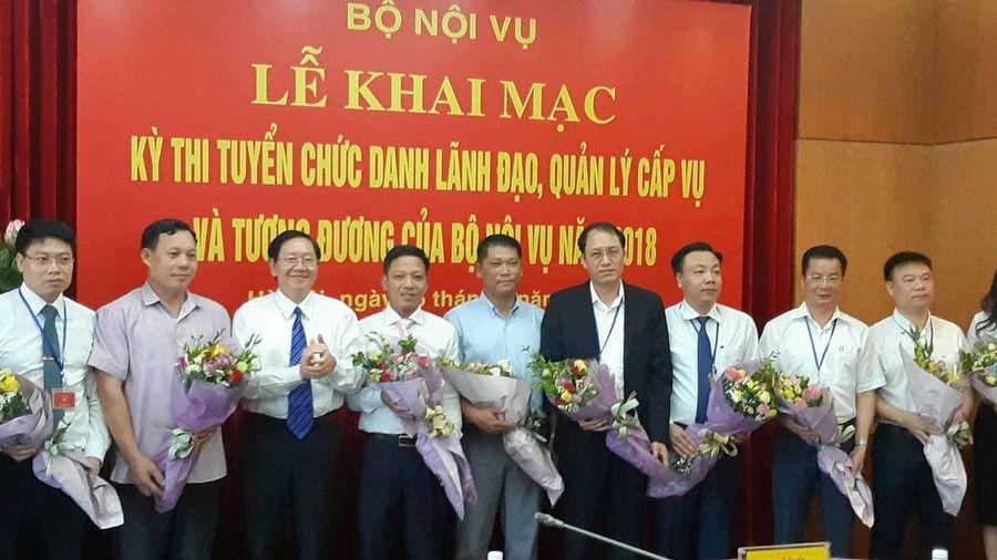 Bộ Nội vụ tổ chức thi tuyển chức danh Vụ trưởng