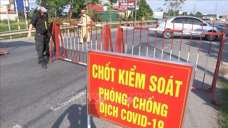 Cách ly y tế một điểm dân cư ở huyện Yên Phong, Bắc Ninh
