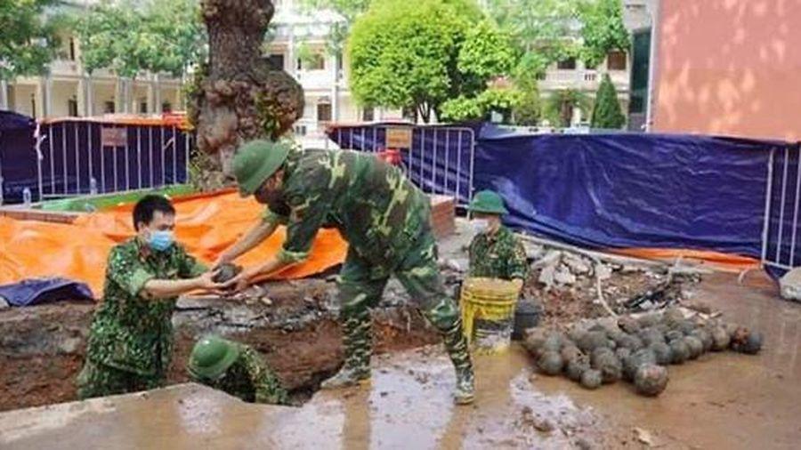 Phát hiện 400 quả bom trong khuôn viên UBND TP Hải Dương