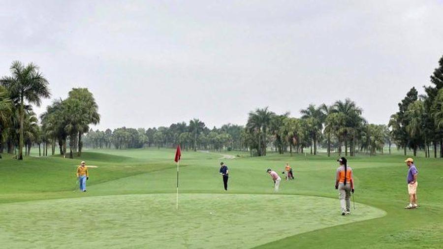 Hà Nội: Tạm dừng hoạt động sân golf, hoạt động thể thao đông người