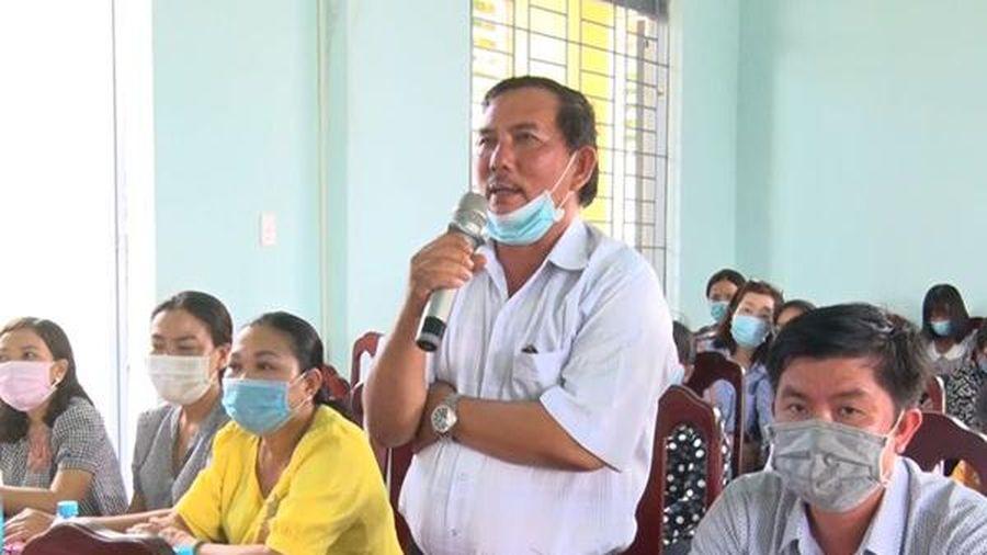 Ứng cử viên đại biểu HĐND tỉnh tiếp xúc cử tri tại huyện Thống Nhất