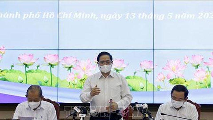Chùm ảnh: Thủ tướng Phạm Minh Chính làm việc với lãnh đạo chủ chốt TP. Hồ Chí Minh
