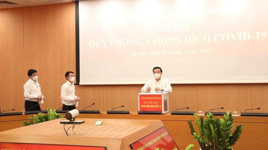 Cơ quan Văn phòng UBND TP Hà Nội ủng hộ Quỹ phòng, chống dịch Covid-19