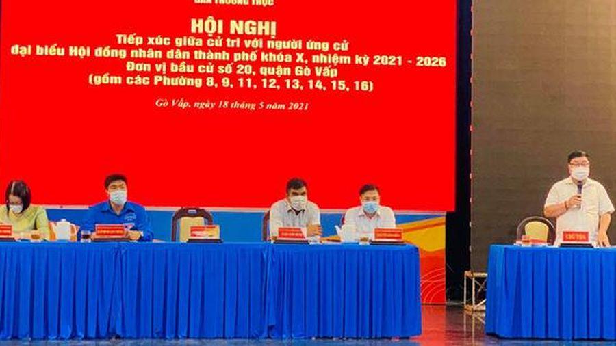 Các ứng viên tại quận Gò Vấp quyết tâm thực hiện mong muốn của cử tri