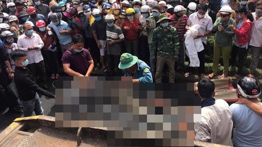Xe lu tông tử vong nữ công nhân đang làm đường
