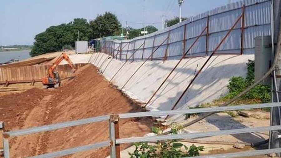 Nứt đê khi thi công nhà máy nước sông Hồng: Sự cố đã được cảnh báo