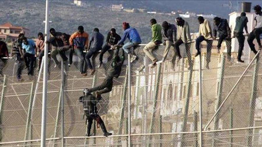 Người di cư phá đổ hàng rào biên giới Maroc vào lãnh thổ Tây Ban Nha