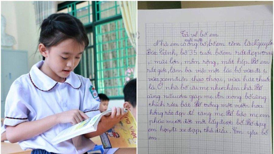 Bài văn miêu tả bố của cô bé tiểu học với loạt ưu điểm 'sai sai' khiến dân tình cười ngất