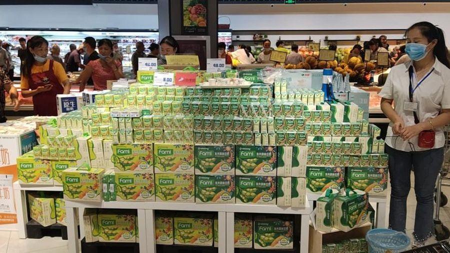 Sữa đậu nành Việt lên kệ hàng siêu thị Trung Quốc và Nhật Bản