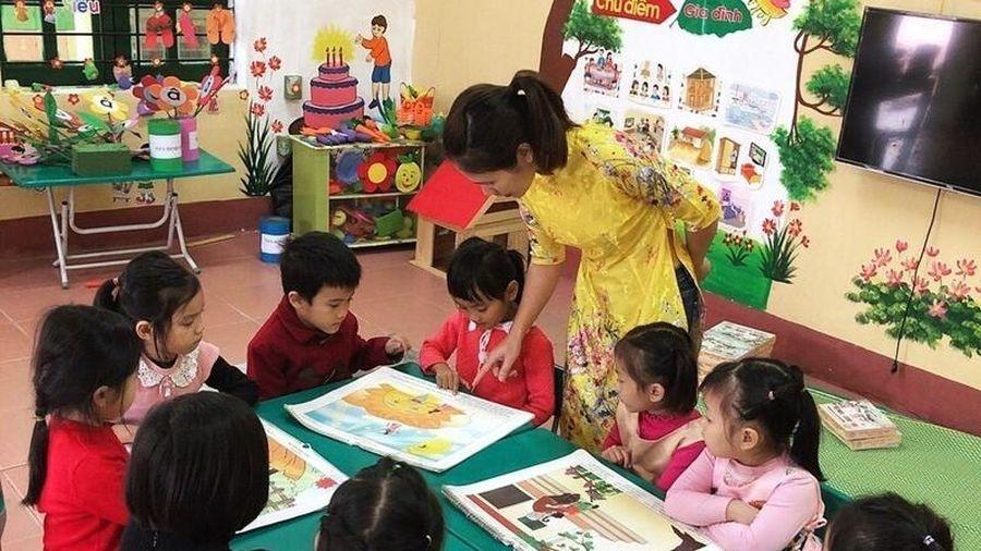 Thị xã Nghi Sơn giữ vững kết quả phổ cập giáo dục mầm non cho trẻ 5 tuổi