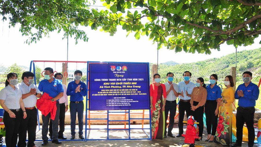 Khánh thành khu vui chơi cho thiếu nhi tại xã Vĩnh Phương