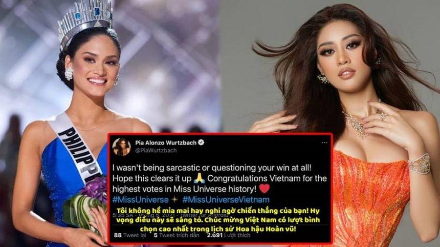 Hoa hậu Hoàn Vũ Thế giới 2025 - Pia Wurtzbach chính thức lên tiếng sau những phát ngôn về top 21 Miss Universe 2020