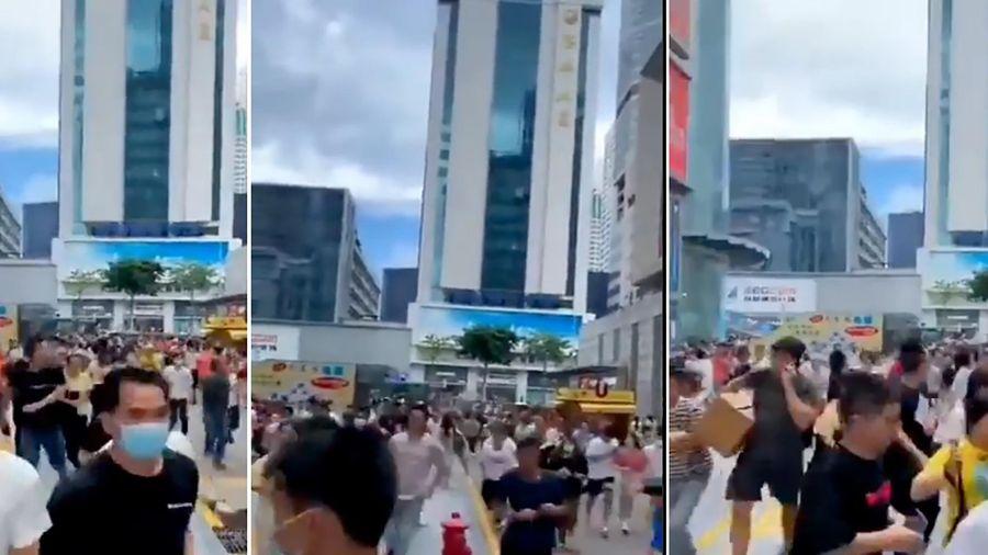 Tòa nhà cao 300 m ở Trung Quốc rung chuyển khiến dân tháo chạy