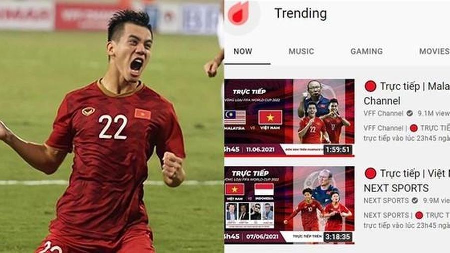 Bóng đá Việt Nam chiếm Top 1 Trending YouTube, Tiến Linh - Ngọc Hải vụt sáng sau bàn thắng