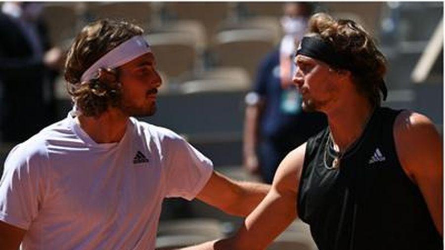 Thắng kịch tính Zverev, Tsitsipas lần đầu vào chung kết của Grand Slam